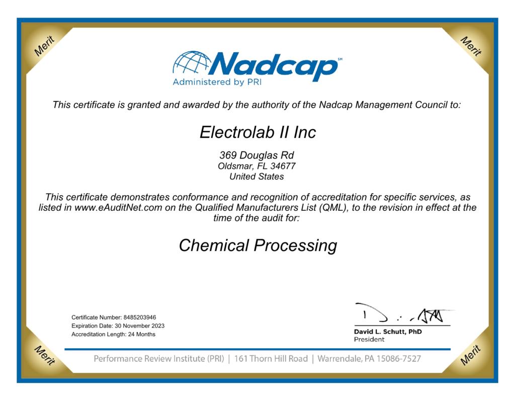 Certificate Nadcap Aerospace Chemical Processing audit 2039461 1024x791 - Quality